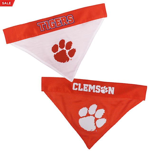 Pets First Clemson Reversible Bandana for Dogs, Small/Medium - Carousel image #1