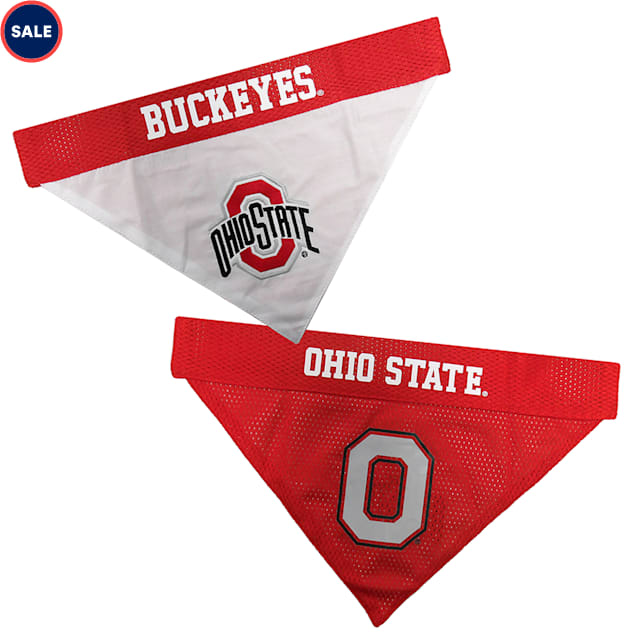 Pets First Ohio State Reversible Bandana for Dogs, Small/Medium - Carousel image #1