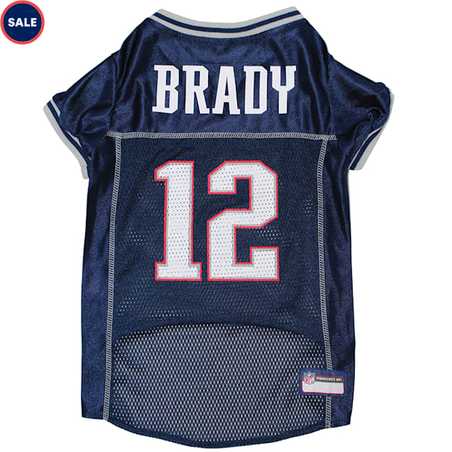 Pets First Tom Brady Jersey (NEP) for Dogs, X-Small - Carousel image #1