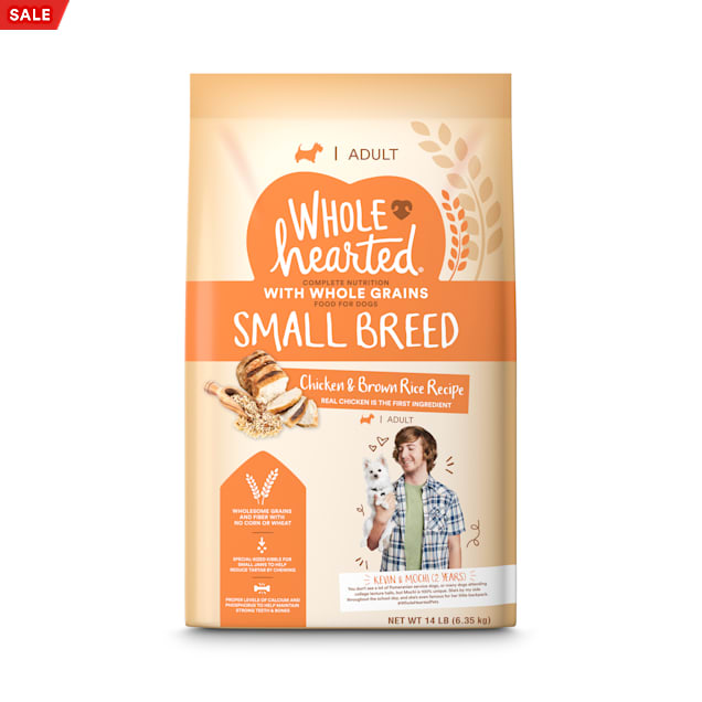 WholeHearted Adult Small-Breed Chicken & Brown Rice Recipe with Whole Grains Dry Dog Food, 14 lbs. - Carousel image #1