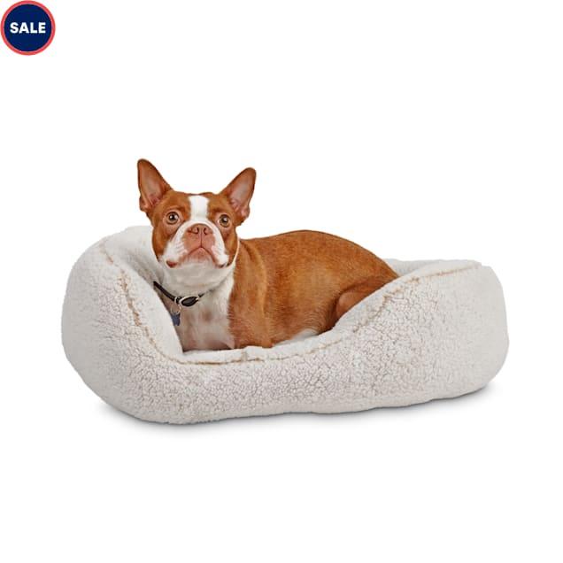 "Harmony Cream Cozy Cuddler Dog Bed, 24"" L X 18"" W - Carousel image #1"