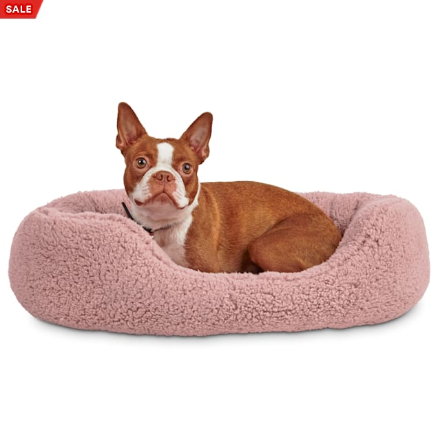 "Harmony Pink Cozy Cuddler Dog Bed, 24"" L X 18"" W - Carousel image #1"