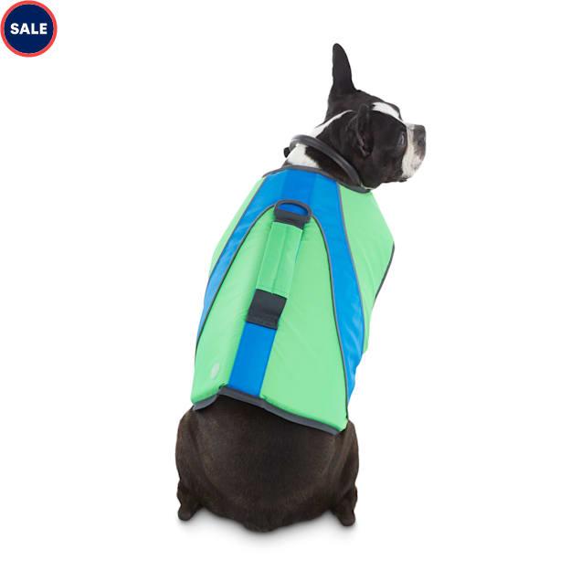 Good2Go Neon Green & Blue Dog Flotation Vest, XX-Small - Carousel image #1