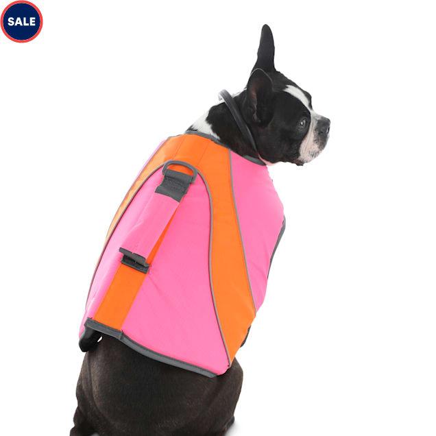 Good2Go Neon Pink & Orange Dog Flotation Vest, XX-Small - Carousel image #1