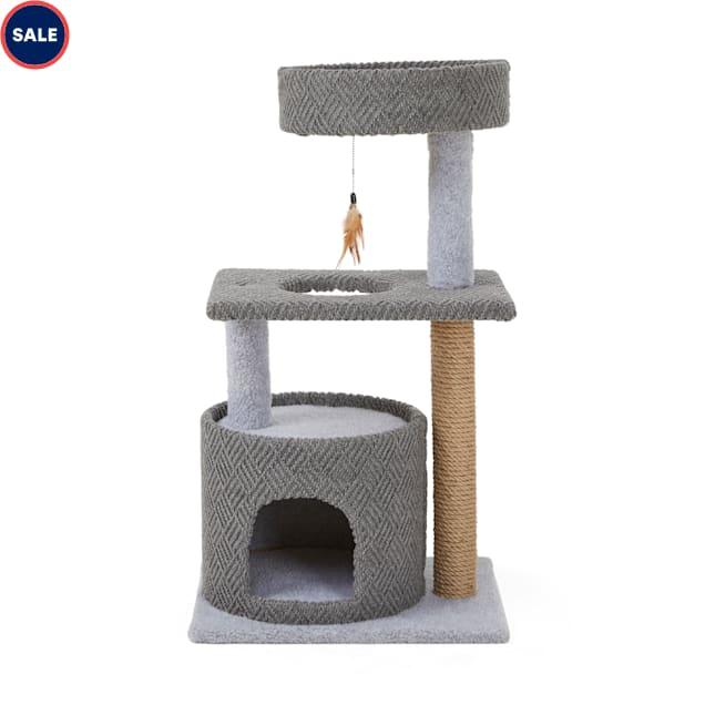 "You & Me So Pawsh Multi-Level Cat Condo, 36.5"" H - Carousel image #1"