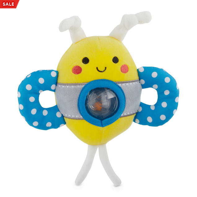 Leaps & Bounds Un-bee-lievably Fun Teething Plush Puppy Toy, Small - Carousel image #1
