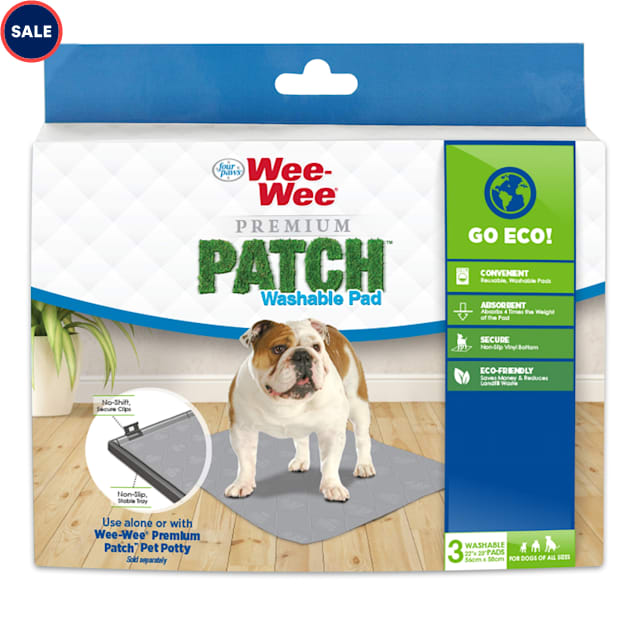 Wee-Wee Premium Patch Washable Pad for Dogs, Count of 3 - Carousel image #1