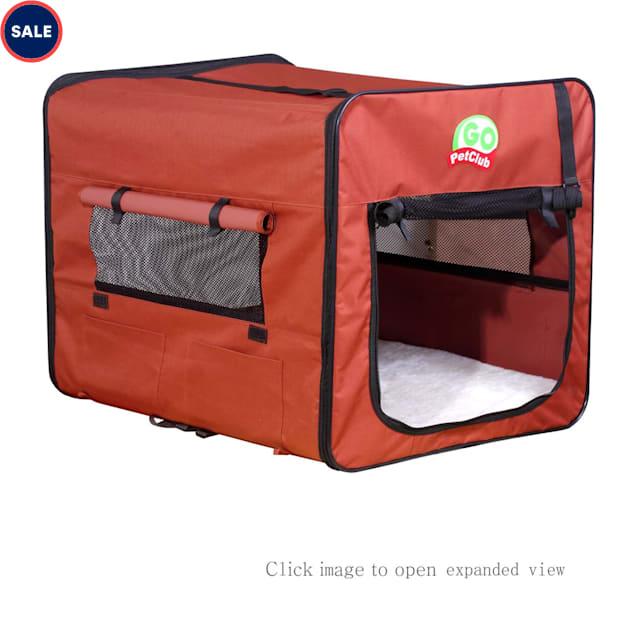 "Go Pet Club Folding Brown Soft Dog Crate, 18"" L X 16.5"" W X 16.5"" H - Carousel image #1"