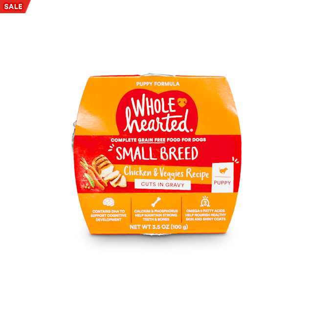 WholeHearted Grain-Free Chicken & Veggies Cuts in Gravy Wet Puppy Food, 3.5 oz., Case of 8 - Carousel image #1