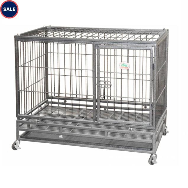 "Go Pet Club Heavy Duty Dog Crate, 38"" L X 24.5"" W X 32"" H - Carousel image #1"