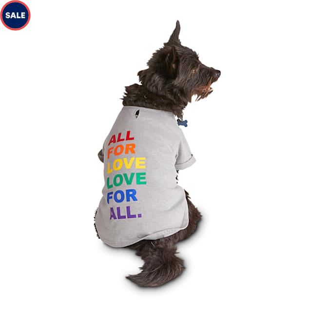 YOULY The Free Spirit Rainbow Love Dog Grey T-Shirt, X-Small - Carousel image #1