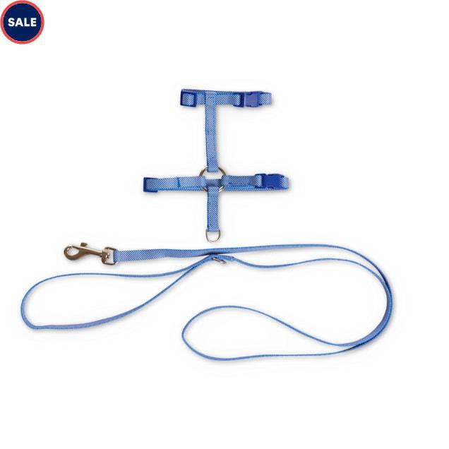 Bond & Co. Blue Seersucker for Style Kitten Harness & Leash Set - Carousel image #1