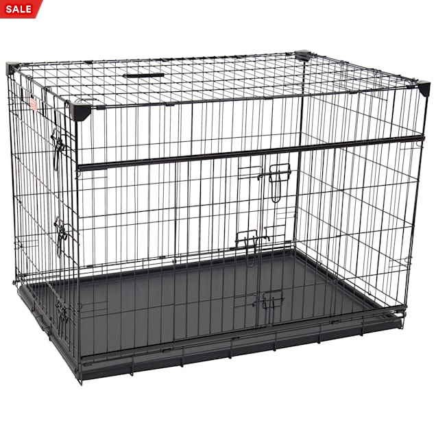 """Lucky Dog Double-Door Dog Crate with Sliding Doors, 42"""" L X 28"""" W X 31"""" H - Carousel image #1"""