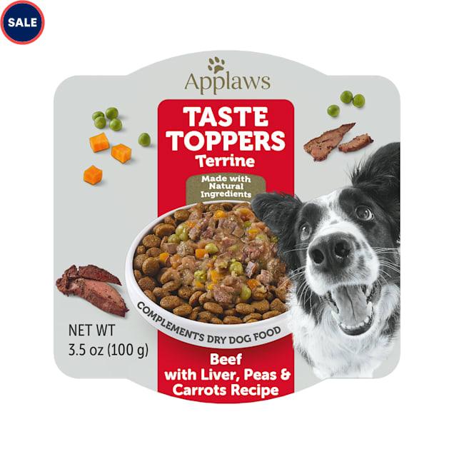Applaws Taste Toppers Beef & Liver Terrine Pot Wet Dog Food, 3.5 oz. - Carousel image #1