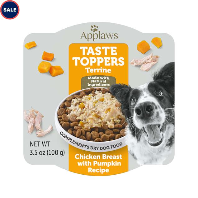 Applaws Taste Toppers Chicken & Pumpkin Terrine Pot Wet Dog Food, 3.5 oz. - Carousel image #1