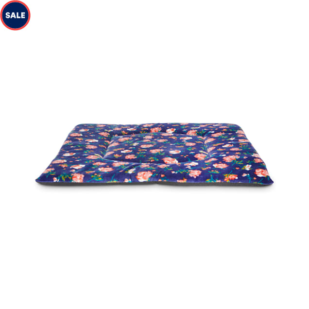 """EveryYay Snooze Fest Navy Floral Square Lounger Cat Mat, 18"""" L X 18"""" W X 0.75"""" H - Carousel image #1"""