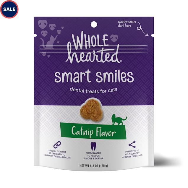 WholeHearted Smart Smiles Catnip Flavor Cat Dental Treats, 6.3 oz. - Carousel image #1