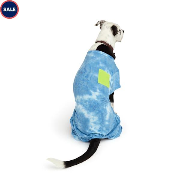 YOULY The Wanderer Blue Tie-Dye Dog Pajamas, Medium - Carousel image #1