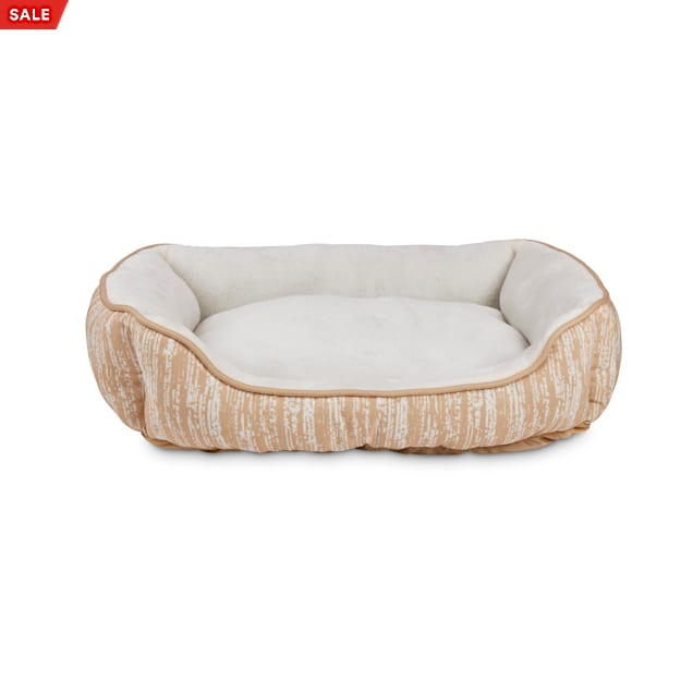 """EveryYay Essentials Snooze Fest Tan Rectangle Nester Dog Bed, 24"""" L X 18"""" W X 7"""" H - Carousel image #1"""