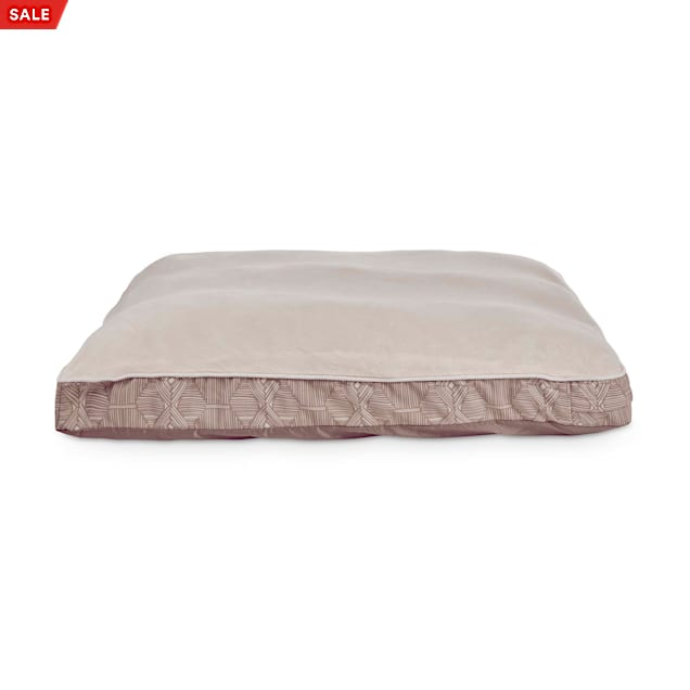 """EveryYay Essentials Snooze Fest Brown Rectangle Lounger Dog Bed, 40"""" L X 30"""" W X 4"""" H - Carousel image #1"""