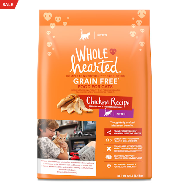 WholeHearted Grain-Free Chicken Recipe Dry Kitten Food, 12 lbs. - Carousel image #1