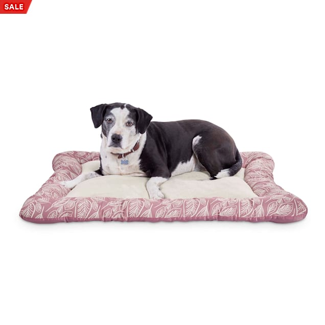 """EveryYay Essentials Snooze Fest Pink Cushioned Mat Dog Bed, 40"""" L X 30"""" W X 2"""" H - Carousel image #1"""