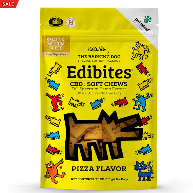 Pet Releaf Special Edition Keith Haring Collection Edibites Pizza Flavor Soft Chews for Dogs, 7.5 oz., Count of 30 - Carousel image #1