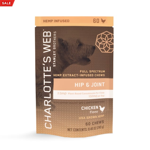 Charlotte's Web Hemp Infused Hip and Joint Chicken Flavored Chews for Dogs, 8.46 oz., Count of 60 - Carousel image #1