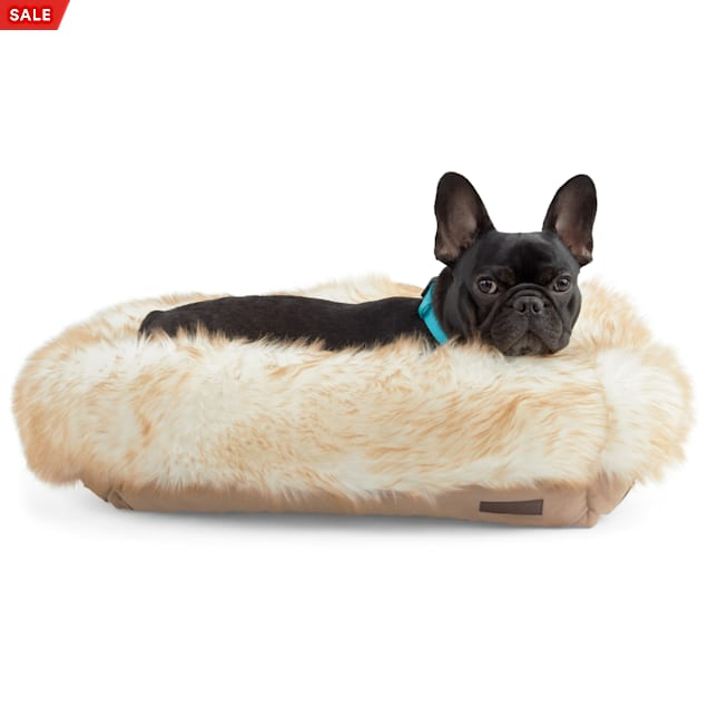 "Reddy Brown Faux-Fur Box Dog Bed, 24"" L X 18"" W - Carousel image #1"