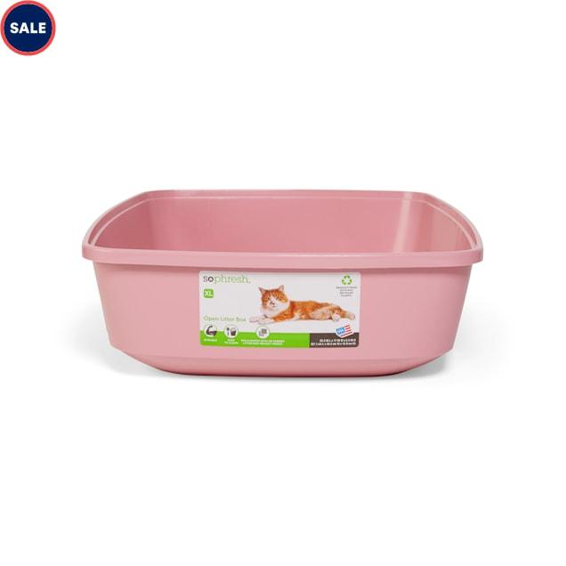 "So Phresh Pink Open Cat Litter Box, 22.5"" L X 17""  W X 5.5"" H - Carousel image #1"