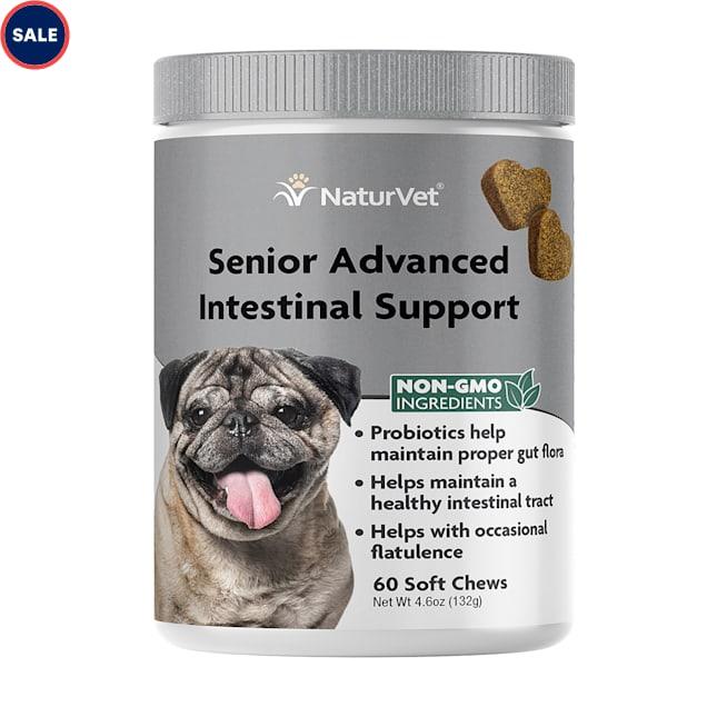 NaturVet Senior Advanced Intestinal Support Dog Soft Chew, Count of 60 - Carousel image #1