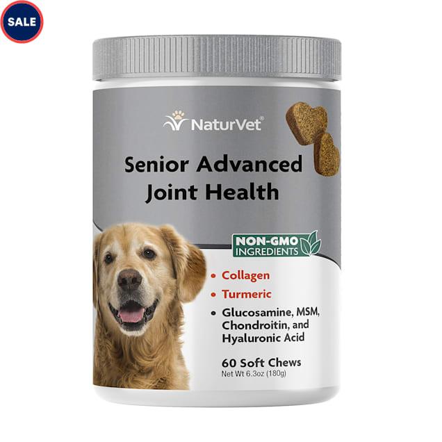 NaturVet Senior Advanced Joint Health Dog Soft Chew, Count of 60 - Carousel image #1