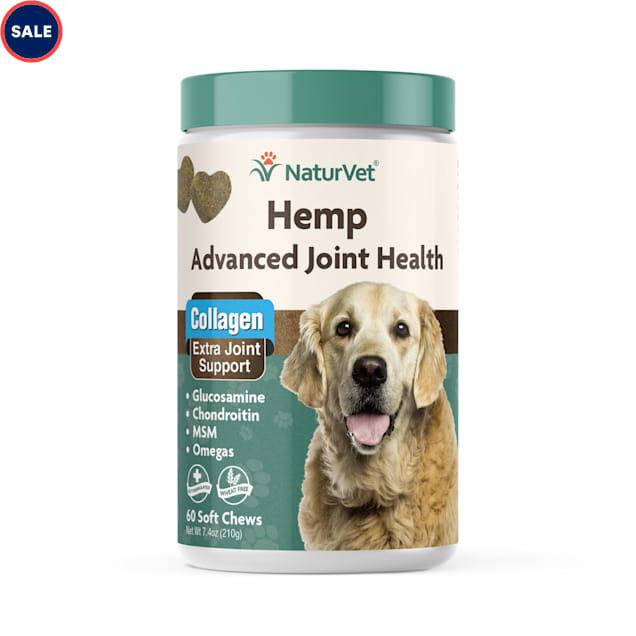 NaturVet Hemp Advanced Joint Health Dog Soft Chew, Count of 60 - Carousel image #1