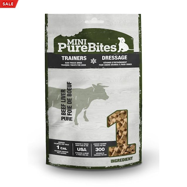 PureBites Mini Trainers Raw Freeze Dried Beef Liver Dog Treats, 3 oz. - Carousel image #1