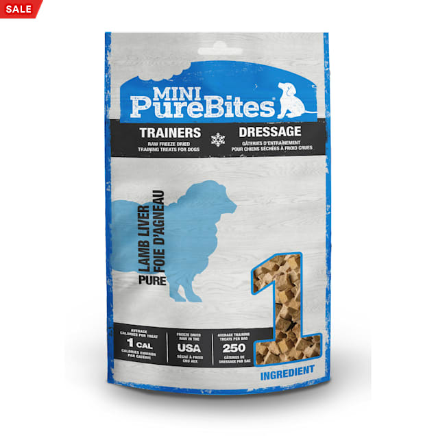 PureBites Mini Trainers Raw Freeze Dried Lamb Liver Dog Treats, 2.4 oz. - Carousel image #1