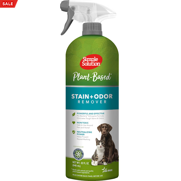 Simple Solution Plant-Based Stain & Oder Remover for Pets, 32 fl. oz. - Carousel image #1
