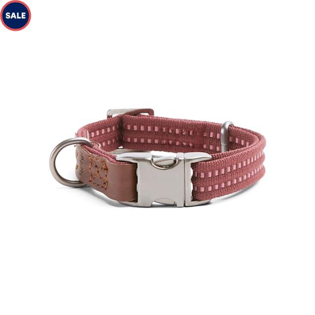 Reddy Burgundy Webbed Dog Collar, Small - Carousel image #1