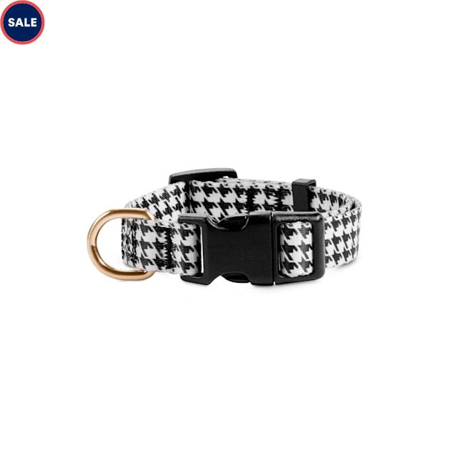 Bond & Co. Black & White Houndstooth Dog Collar, Small - Carousel image #1