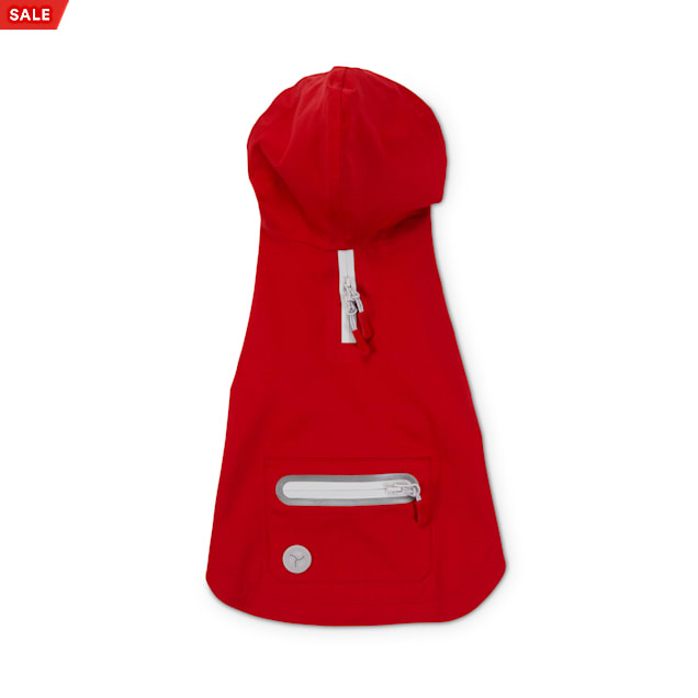 Reddy Red Hooded Waterproof Dog Raincoat, Small - Carousel image #1