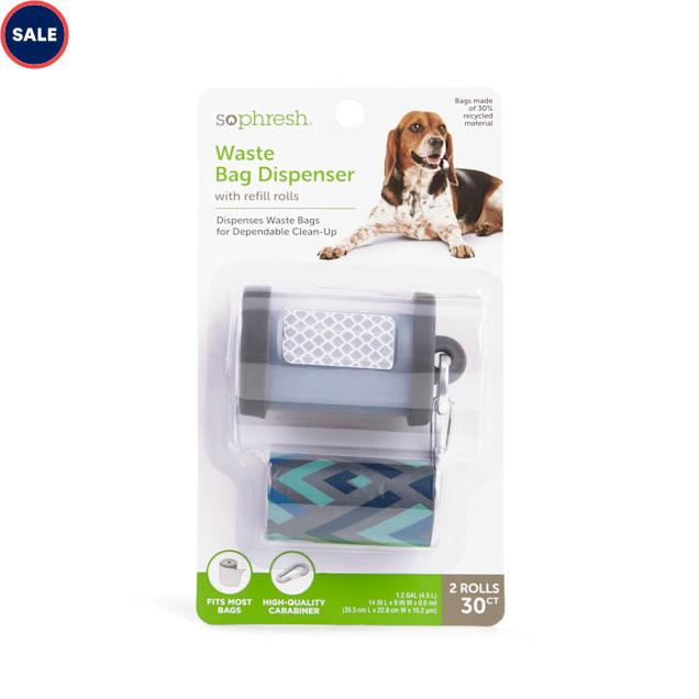 So Phresh Grey & Clear Dog Waste Bag Dispenser with Chevron-Print Refill Rolls - Carousel image #1