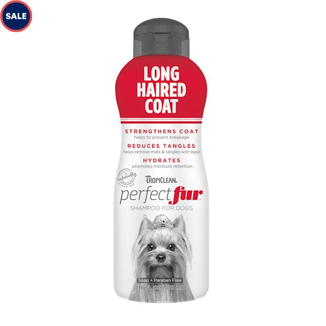 TropiClean Perfect Fur Long Haired Coat Dog Shampoo, 16 fl. oz. - Carousel image #1