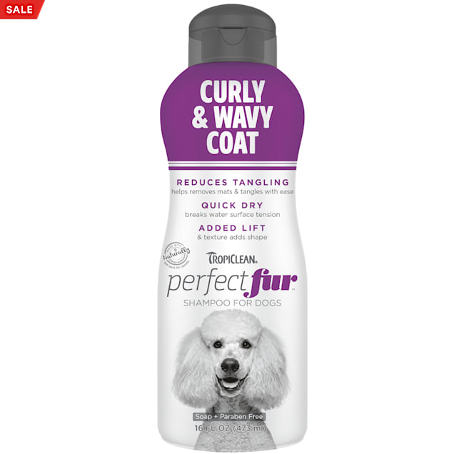 TropiClean Perfect Fur Curly & Wavy Coat Shampoo for Dogs, 16 fl. oz. - Carousel image #1