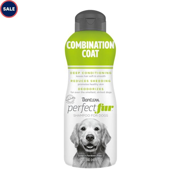 TropiClean Perfect Fur Combination Coat Dog Shampoo, 16 fl. oz. - Carousel image #1