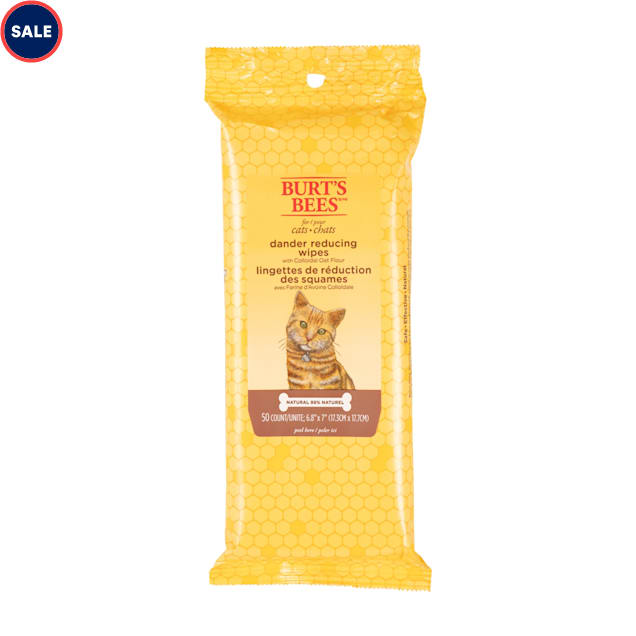 Burt's Bees Dander Reducing Wipes for Cats, Count of 50 - Carousel image #1