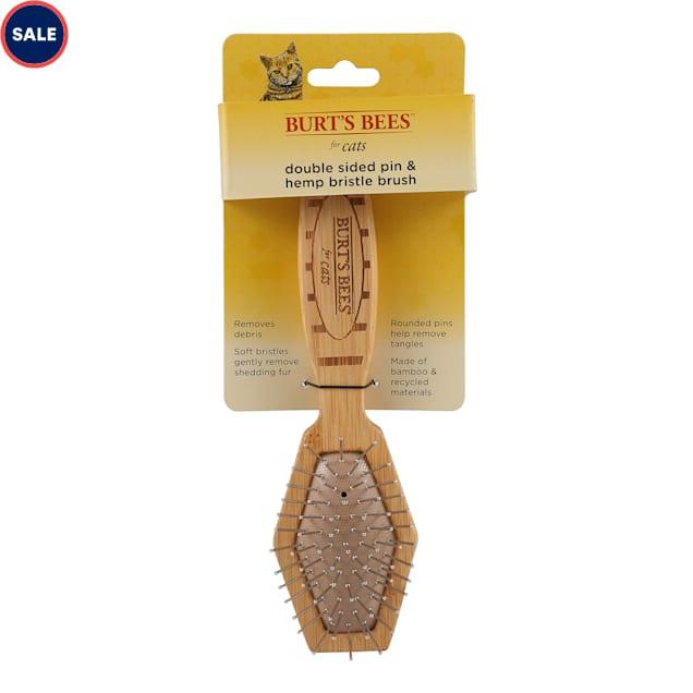 Burt's Bees Double Sided Pin & Hemp Bristle Brush for Cats - Carousel image #1