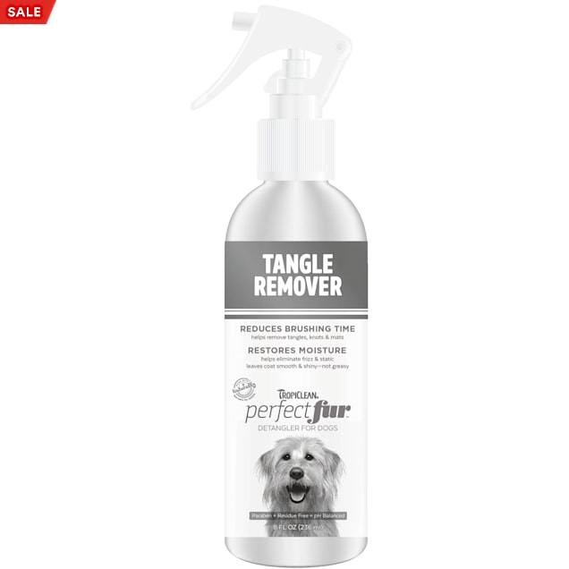 TropiClean Perfect Fur Tangle Remover Spray for Dogs, 8 fl. oz. - Carousel image #1