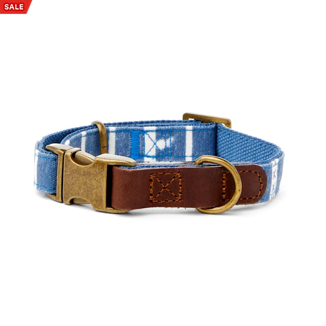 YOULY The Dreamer Blue Ikat Dog Collar, Small - Carousel image #1