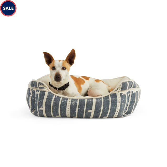 """YOULY The Dreamer Blue Ikat Nester Dog Bed, 24"""" L X 18"""" W - Carousel image #1"""