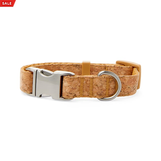 Bond & Co. Started As A Bottle Recycled & Reinvented Cork Cloth Dog Collar, Small - Carousel image #1