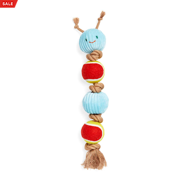 Bond & Co. Started As A Bottle Recycled & Reinvented Grow Wild Caterpillar Mixed-Material Dog Toy, Large - Carousel image #1